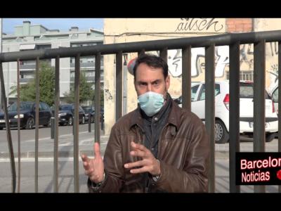 ciudadano descontento con las restricciones en barcelona por el covid y comparandolo con madrid
