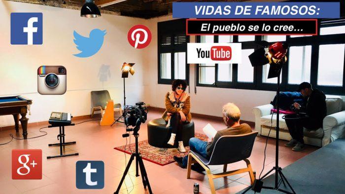 poster del mockumentary redes sociales vidas de famosos el pueblo se lo cree, rodado en barcelona por melon productions