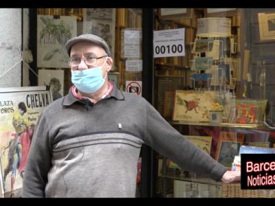 librero de barcelona hablando de los derechos de los ciudadanos y de los políticos