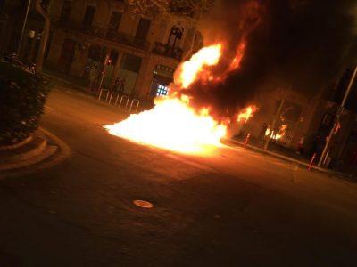 fuego revueltas barcelona hasel