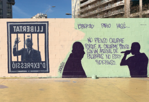 graffity libertad de expresion hasel tres chimeneas barelona