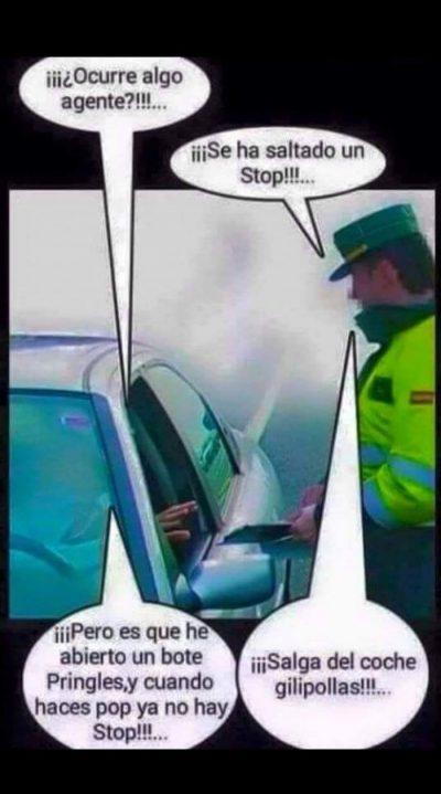 chiste guardia civil Pringles no hay stop