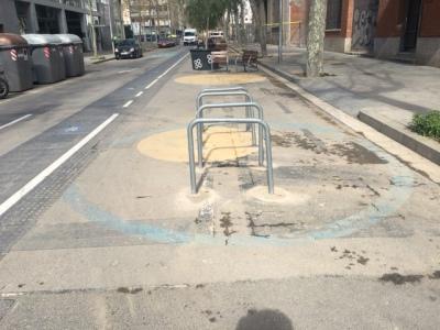 pintura del suelo barcelona noticias